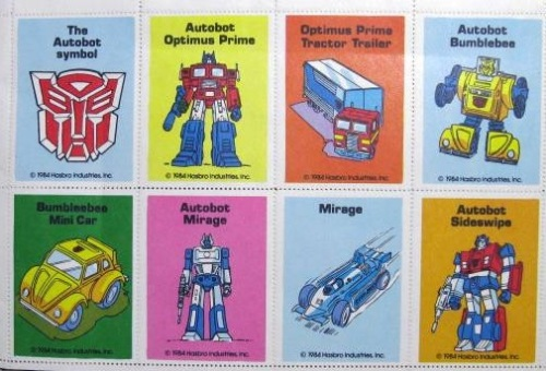 Transformers Stamps 1984-3