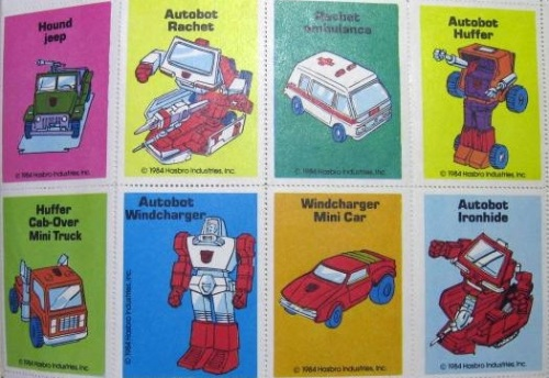 Transformers Stamps 1984-5