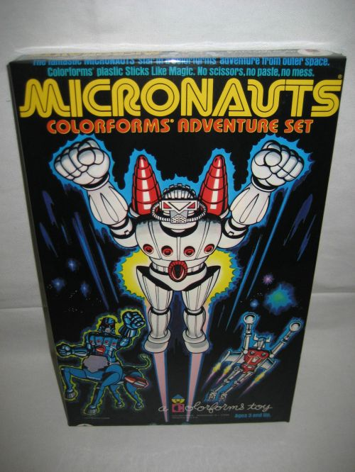 Micronauts Colorforms 1977