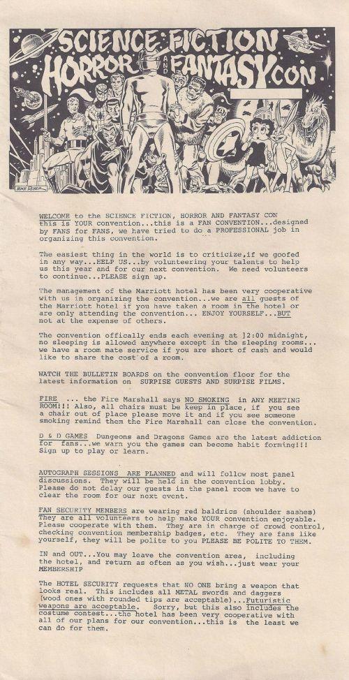 Sci-Fi Con Program 1978