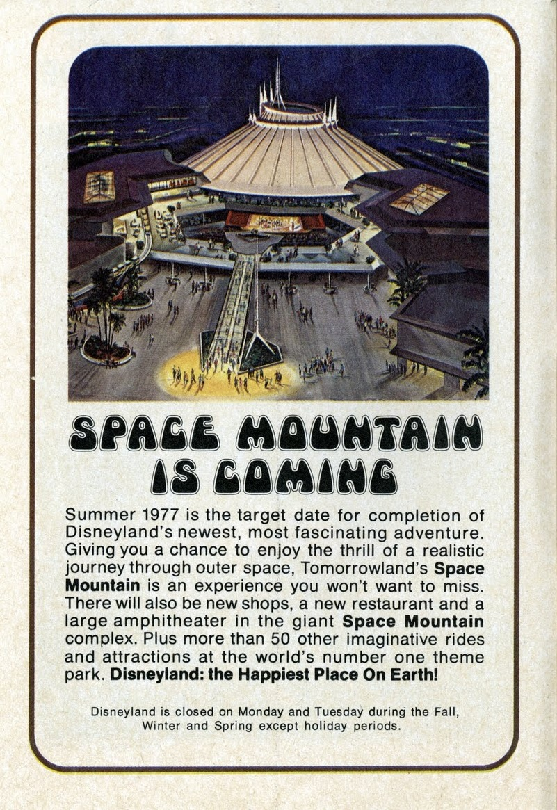 Disneyland Map and Guidebook (1976): 'Space Mountain is