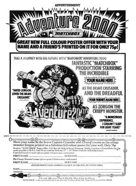 Matchbox Ad 1977