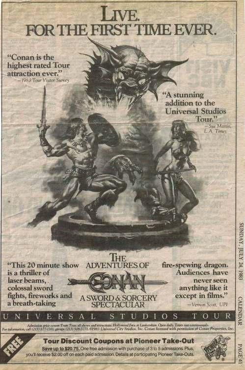 Conan Ad 1983