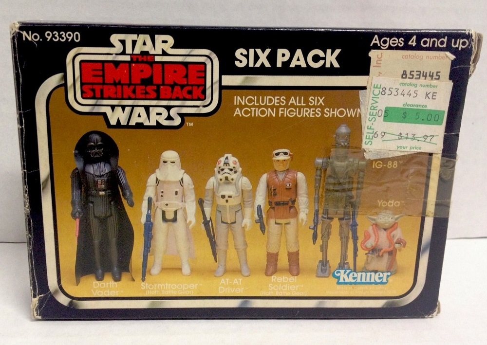 Kenner Star Wars Toys : The empire strikes back action figure 'six pack kenner