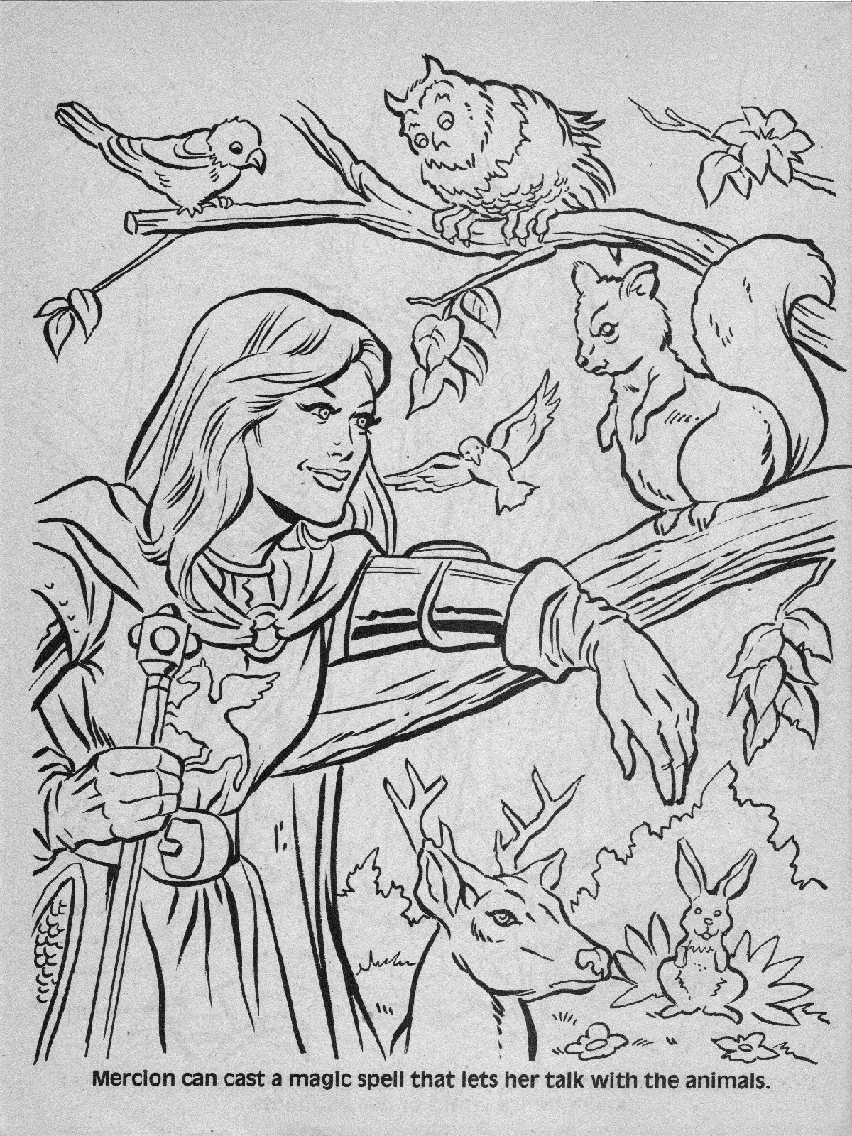 Advanced Dungeons Amp Dragons Characters Coloring Book 1983