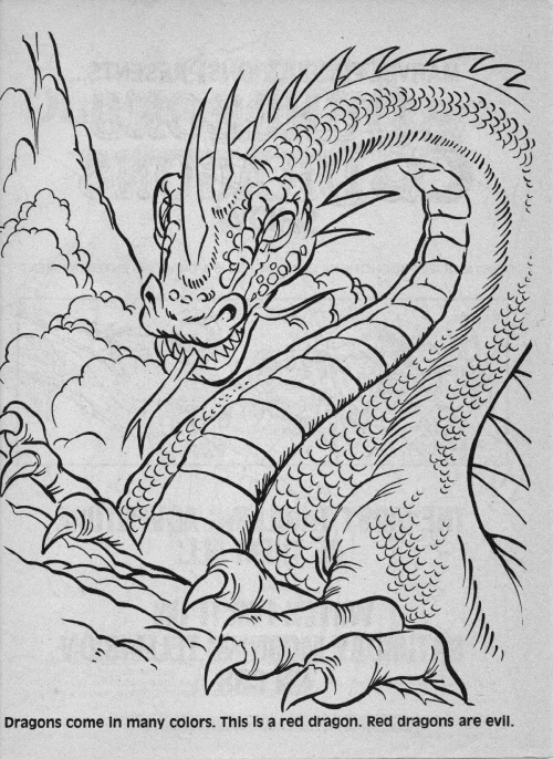 dungeons and dragons coloring pages - photo#29