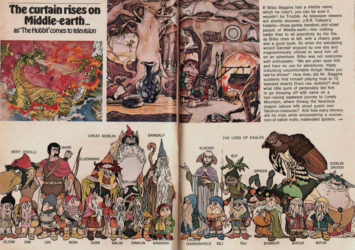 tv guide article on the the hobbit tv movie 1977 2