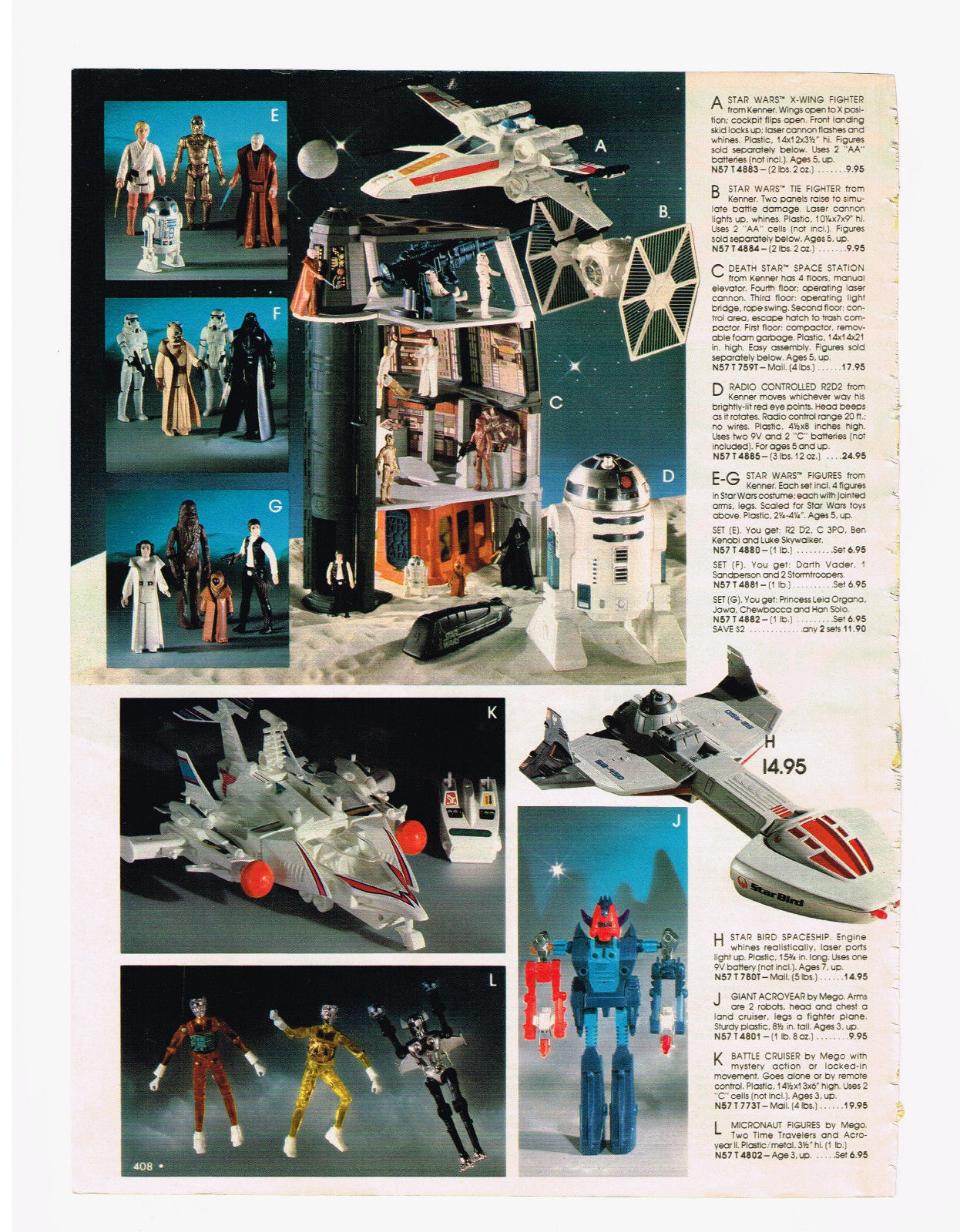 1978 spiegel catalog star wars shogun warriors star. Black Bedroom Furniture Sets. Home Design Ideas