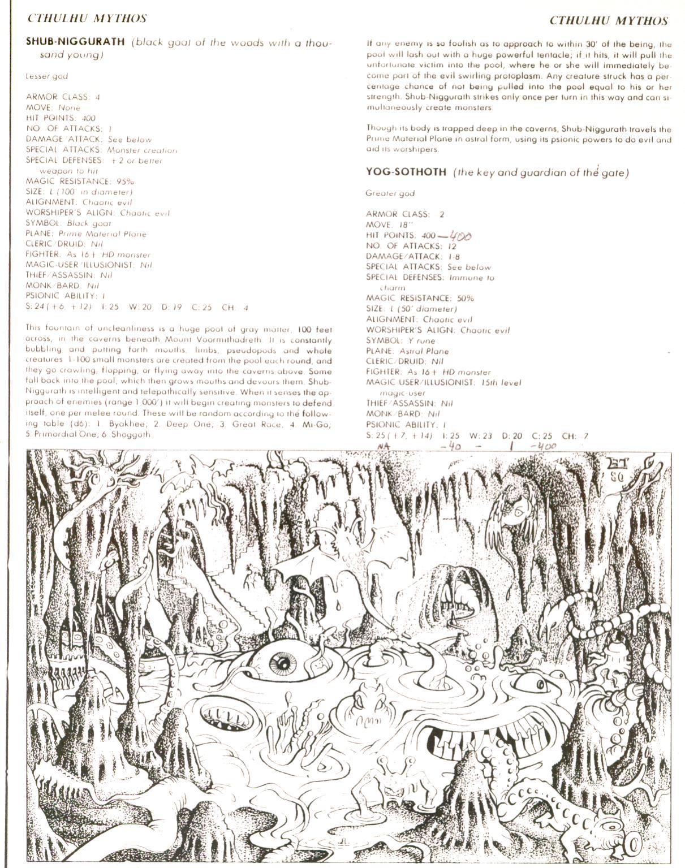 The Cthulhu Mythos In Tsrs Deities Demigods 1980 2 Warps To