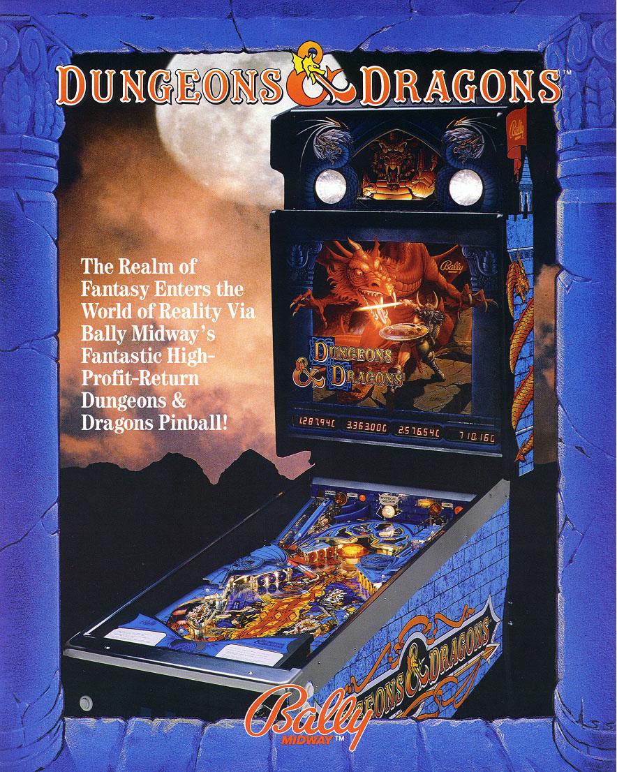 Advanced Dungeons & Dragons Pinball Games (Larami, 1983