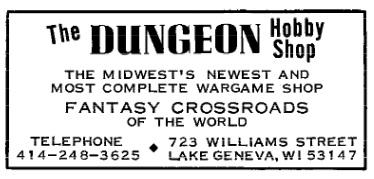 Dungeon Hobby Dragon #3 1976
