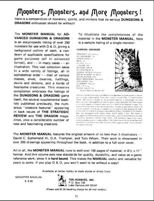 Monster Manual Dragon #13 April 1978