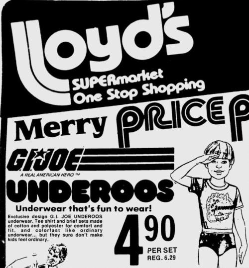 G.I. Joe Underoos 1982