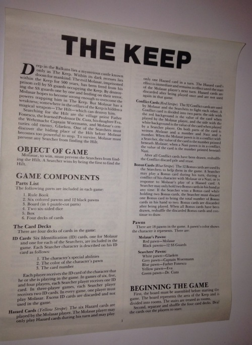 The Keep 1983-4