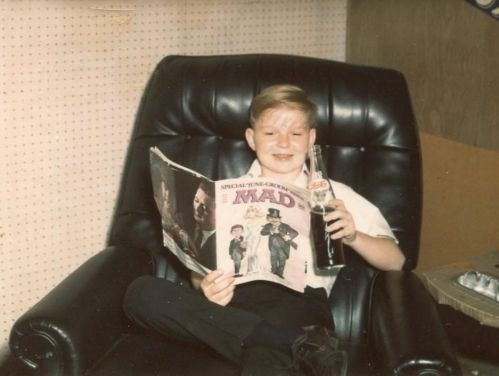 Boy Reading Mad 1966