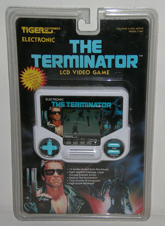 Video Game Girl Stock Image Image Of Latina Isolated: The Terminator LCD Video Game (Tiger Electronics, 1984