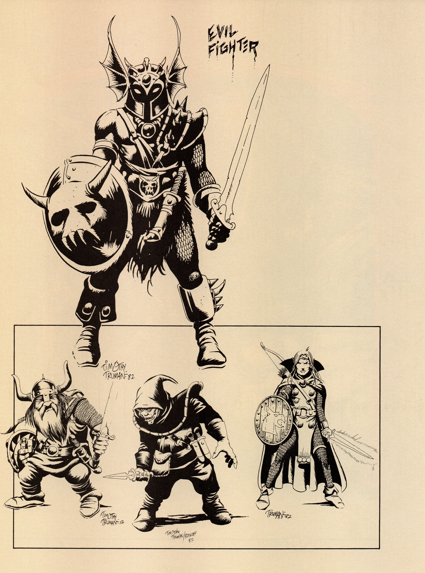 D Line Drawing Game : The art of dungeons dragons fantasy game tsr