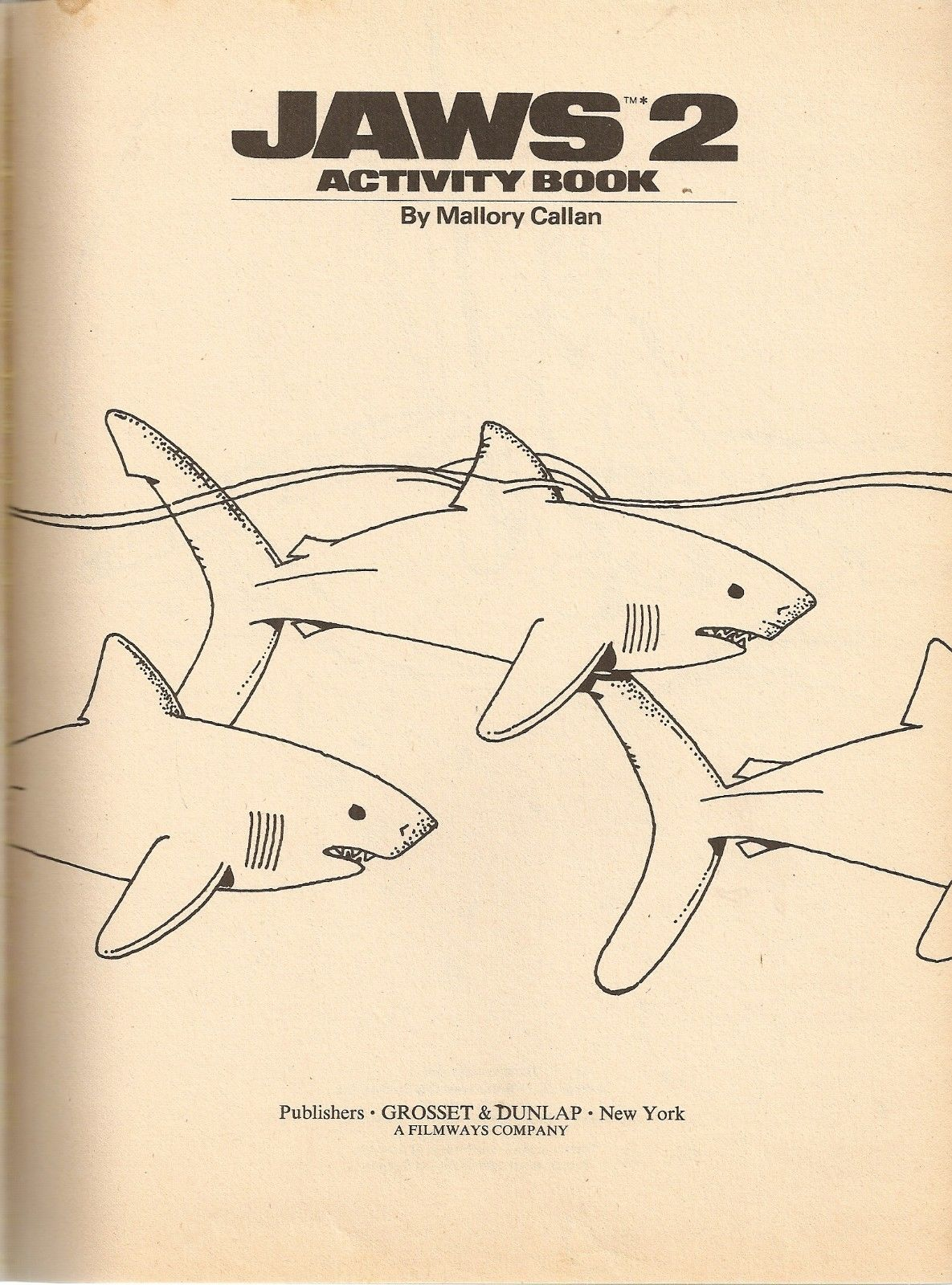 jaws 2 activity book grosset and dunlap 1978 2 warps to neptune