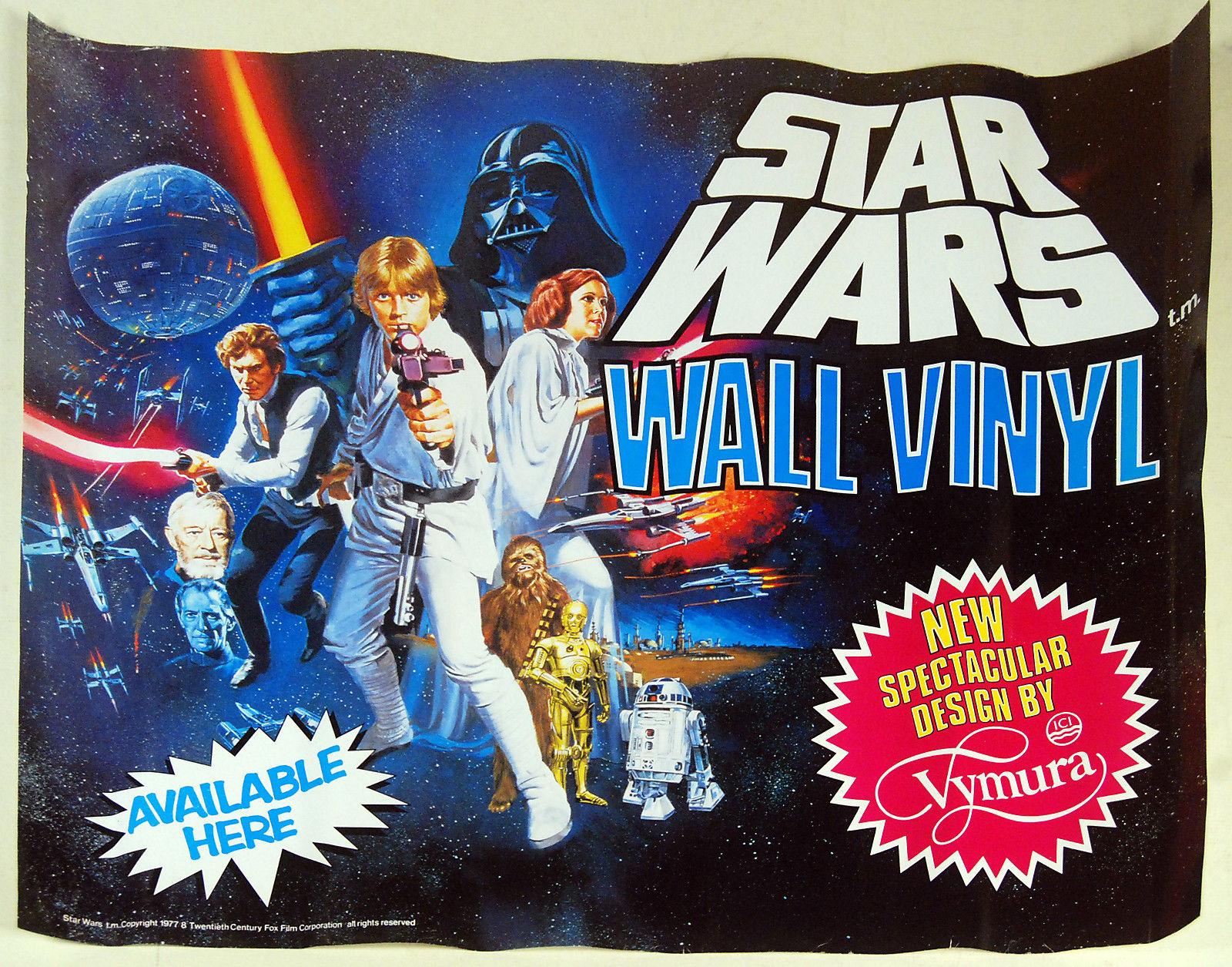 Star Wars Wall Vinyl Banner Ad 1977 2 Warps To Neptune