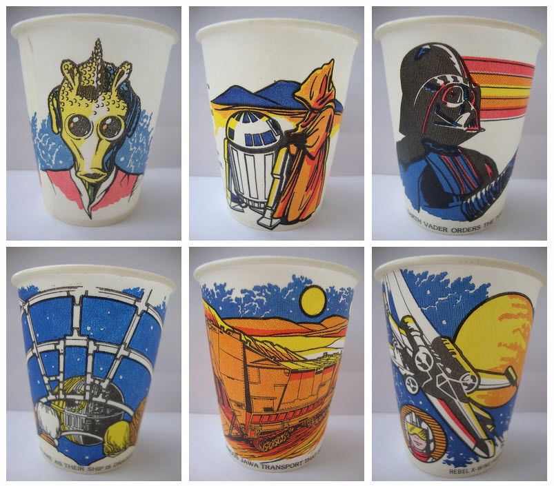 Attractive Star Wars Fun Cup Assortment (Dixie, 1980) | 2 Warps to Neptune TV79