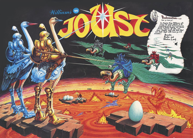Image result for Joust arcade artwork