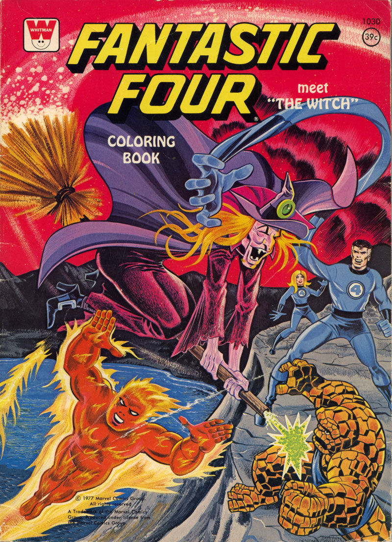 Fantastic Four Meet \'The Witch\' Coloring Book (Whitman, 1977) | 2 ...