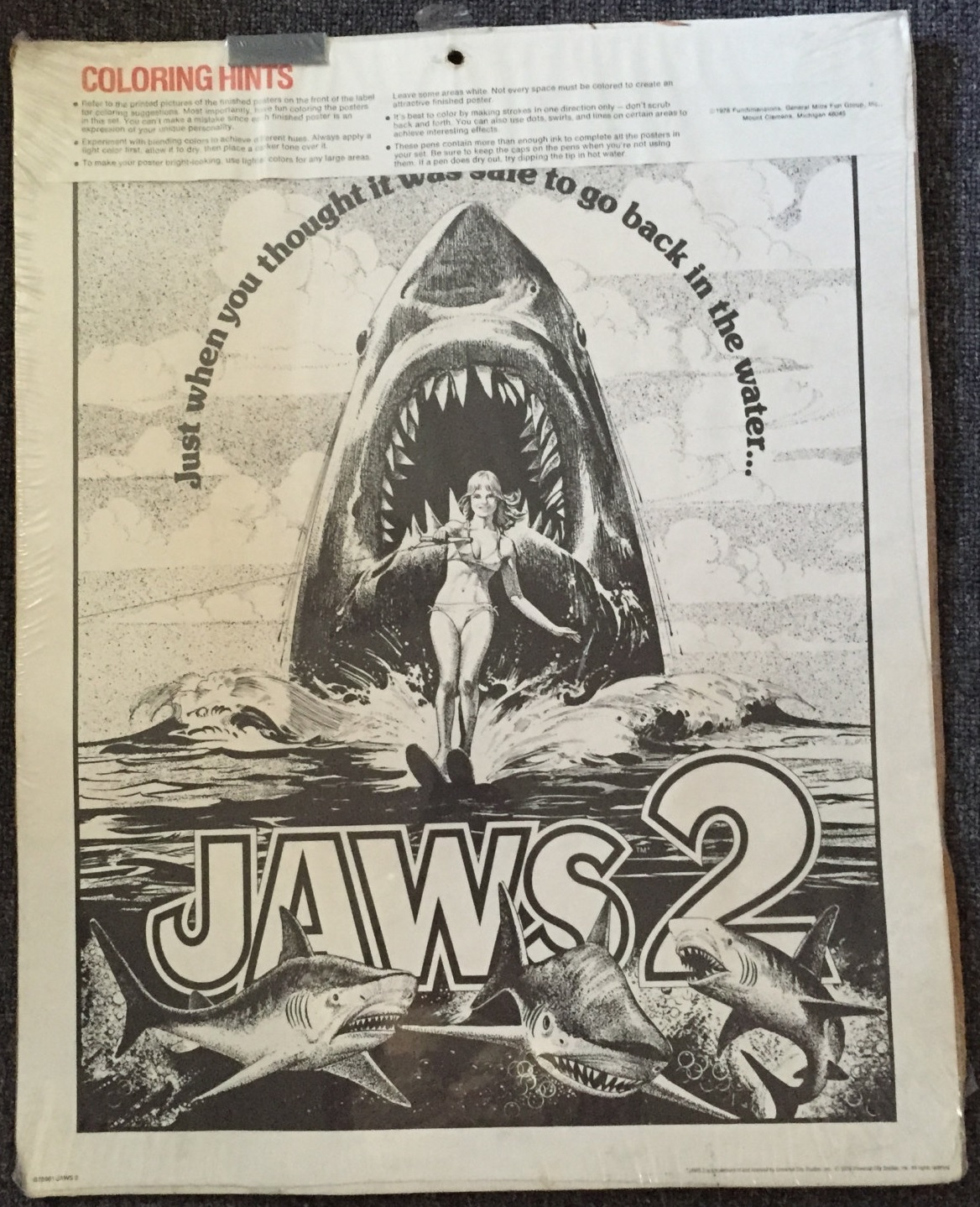 Jaws 2 Poster Art (Craft Master, 1978) | 2 Warps to Neptune