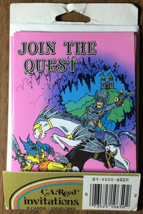 D&D Invites 1983