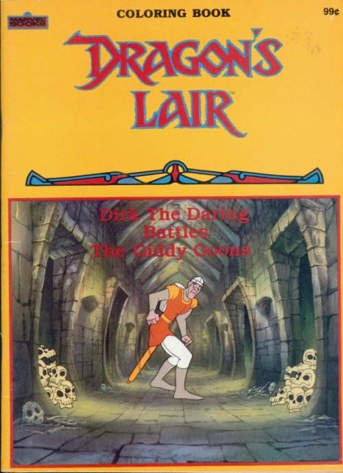 There Were Two Coloring Books And Activity Based On Dragons Lair All Of Them Published In 1984 By Marvel