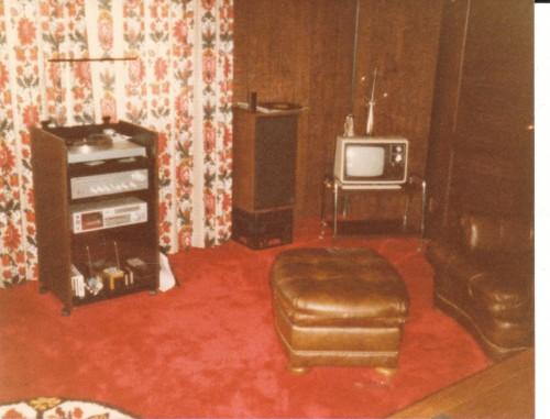 living room 1970s