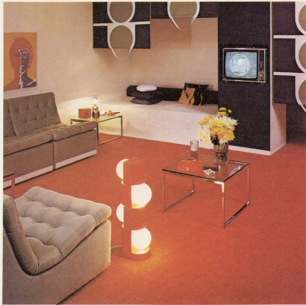 Living room 70s 2 warps to neptune for 70s apartment design