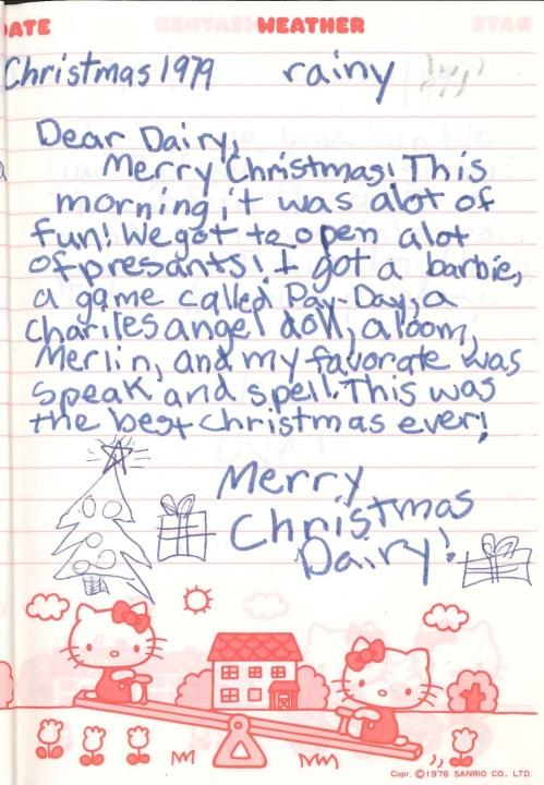Christmas Dairy 1979