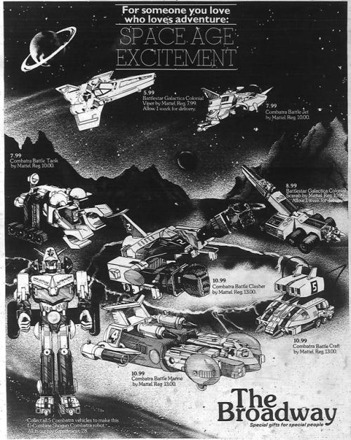 Space Toys Ad 1980