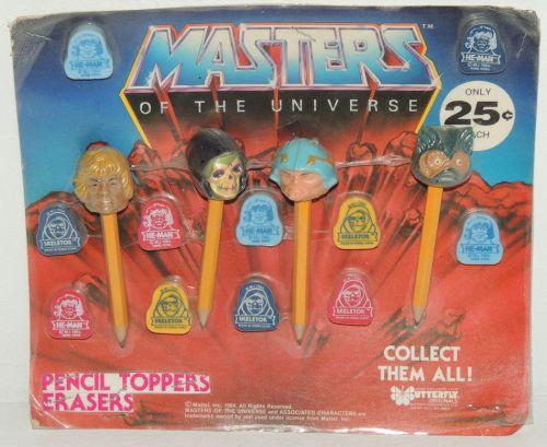 MOTU Pencil Toppers 1984