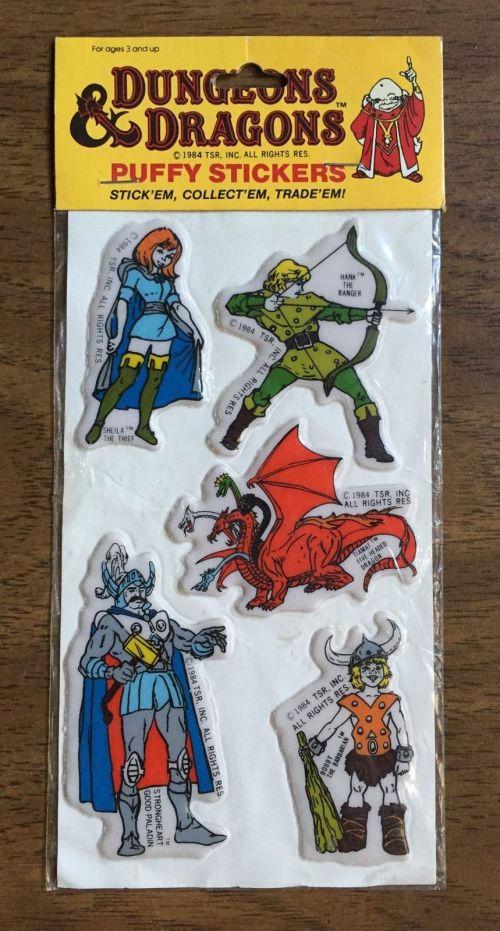 D&D Stickers 1984-3