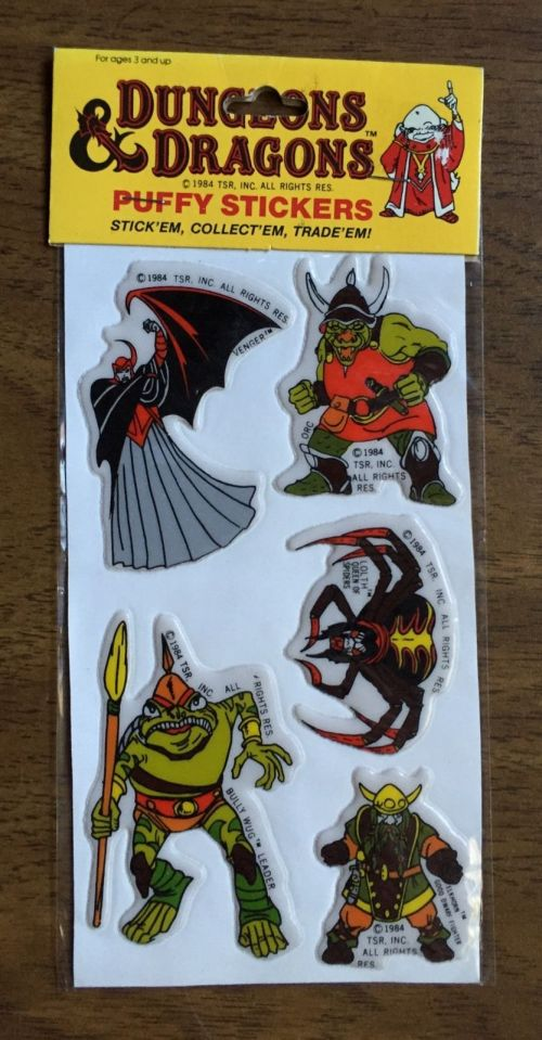 D&D Stickers 1984-4