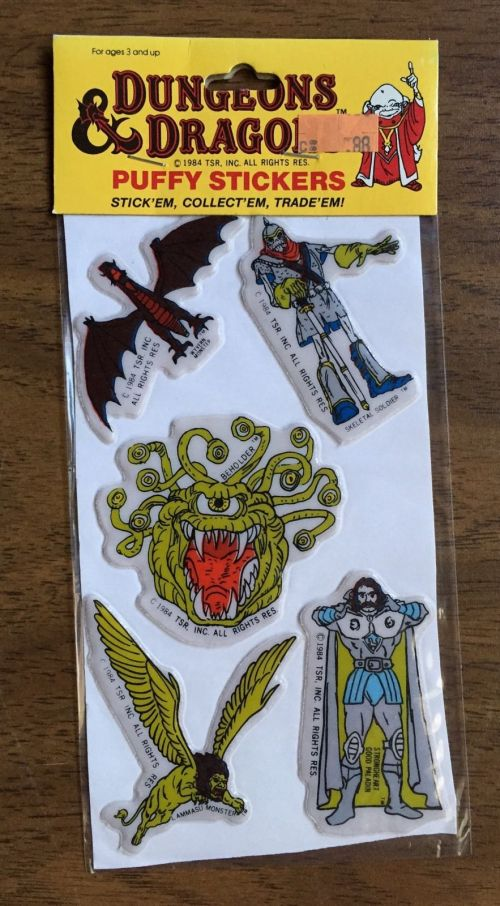 D&D Stickers 1984-5