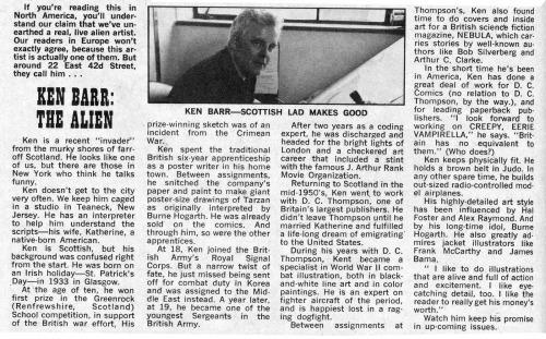 Barr Bio Creepy #35 1970